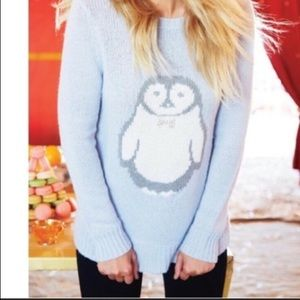 LC Lauren Conrad light blue penguin sweater